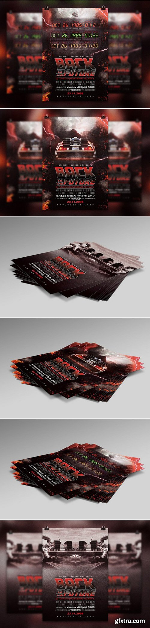 CM - Back To The Future | Flyer Template 432591