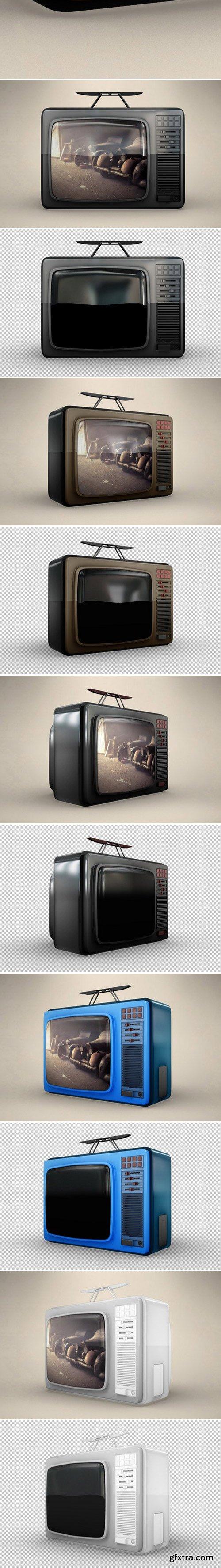 CM - BUNDLE Vintage Philips Tv 1974MockUp 434739
