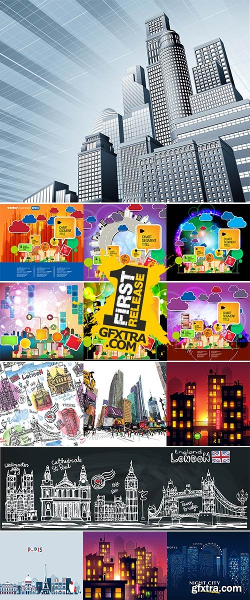 Stock Big city abstract design