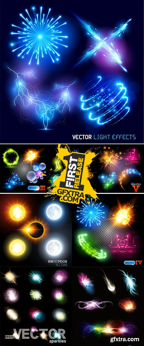 Stock Vector Special Effects, Each object grouped and layered