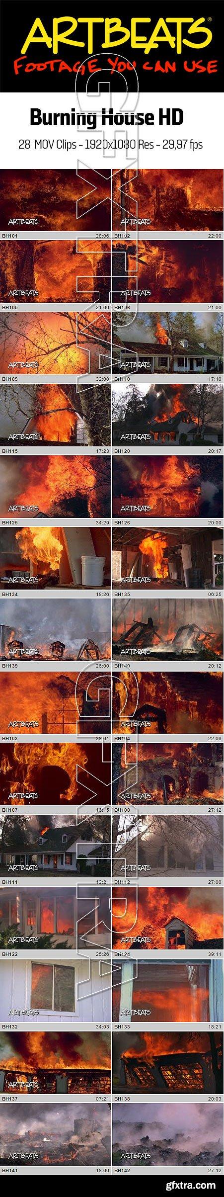 Burning House HD, 28xMOV, 1920x1080