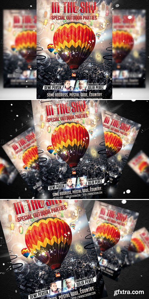 CM - In The Sky Flyer Template 438842