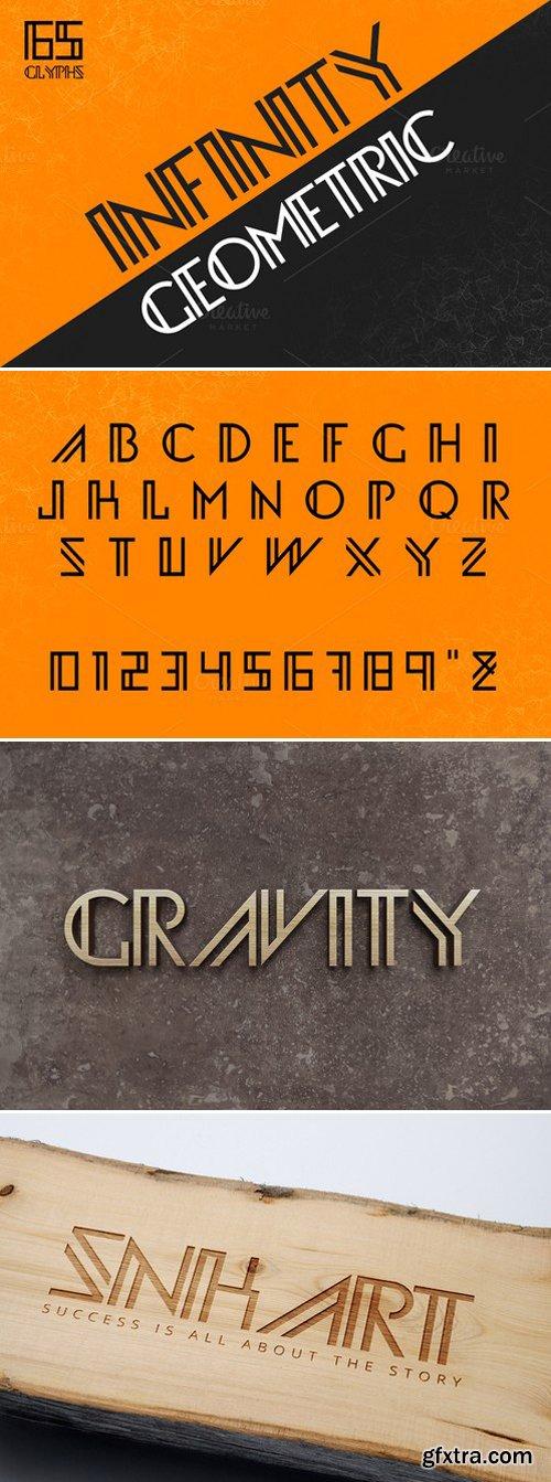 CM - Infinity Geometric Font 440066