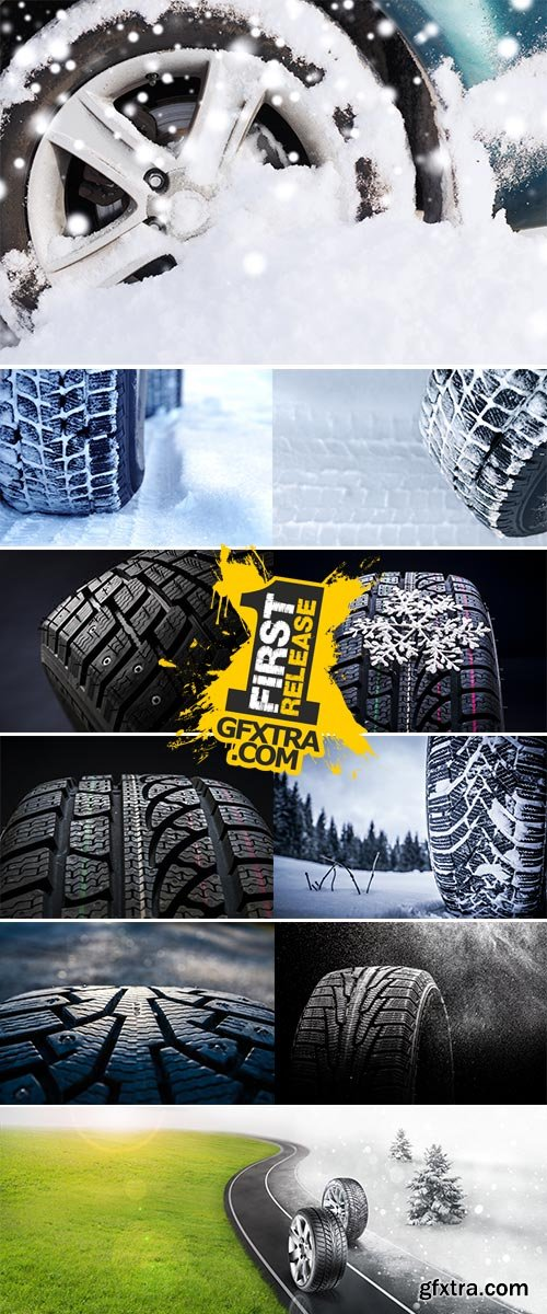 Stock Image Winter tires photographed in close-up