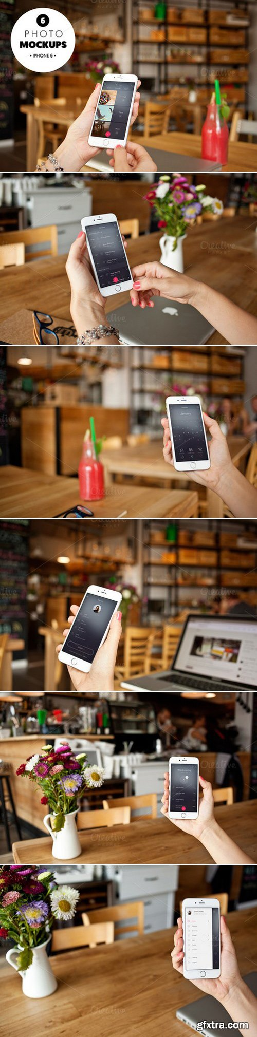 CM - iphone 6 in the cafe-6 photo mockups 442591