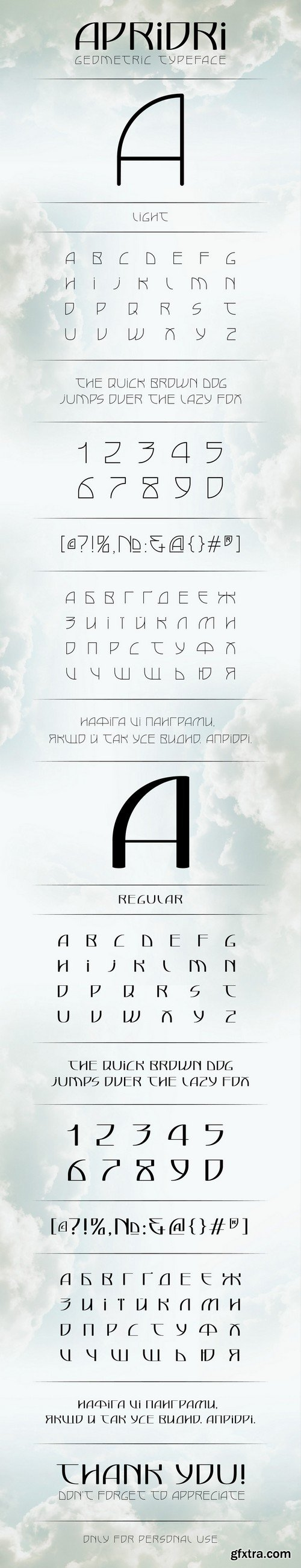 Apriori Font