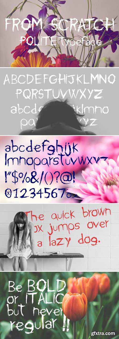 FROM SCRATCH - Typeface