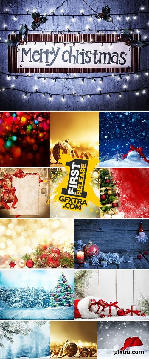 Stock Image Christmas composition on a background