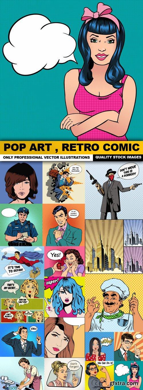 Pop Art , Retro Comic - 20 Vector