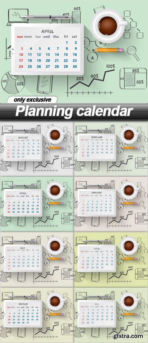 Planning calendar - 8 EPS