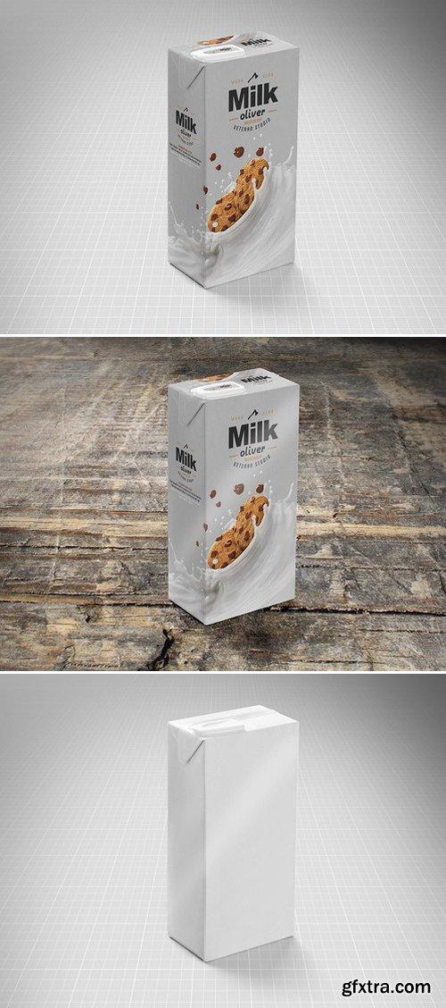 CM - Milk Drink Package Box Mock-Up 418190