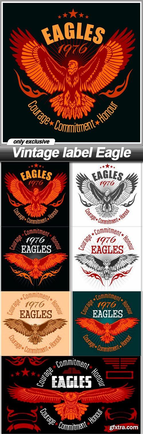 Vintage label Eagle - 7 EPS