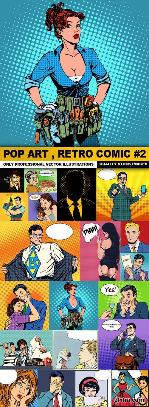 Pop Art , Retro Comic #2 - 20 Vector