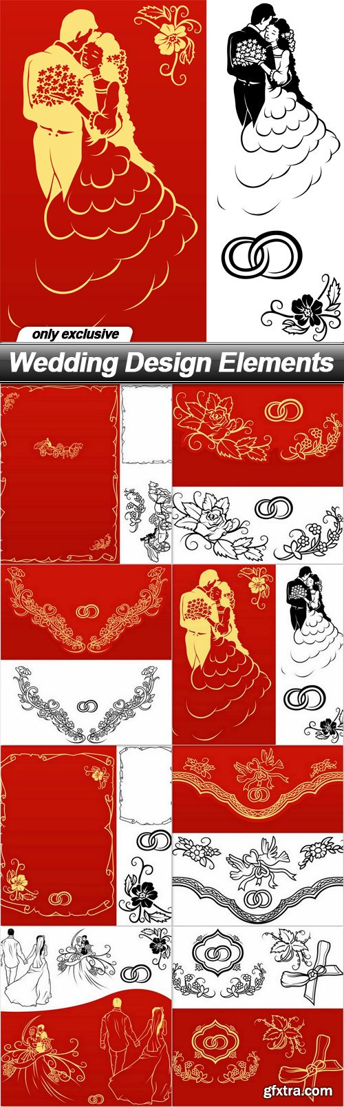 Wedding Design Elements - 8 UHQ JPEG