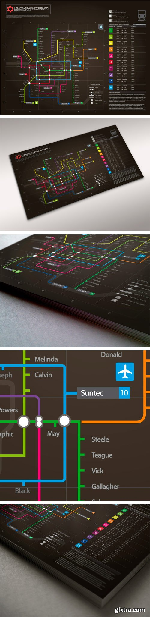 CM 143801 - Neon Subway Map Information Design