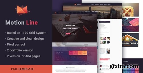 ThemeForest - Motion Line v1.0 - creative portfolio PSD template - 10992651