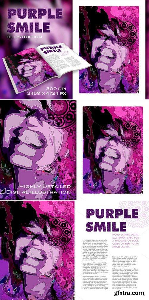 CM - Purple Smile illustration 171630