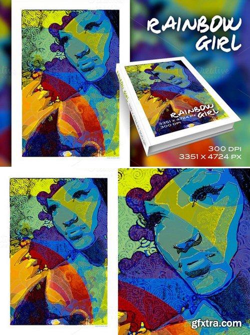 CM - Rainbow Girl illustration 170156