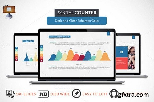 CM - Social Counter | Keynote Template 248377