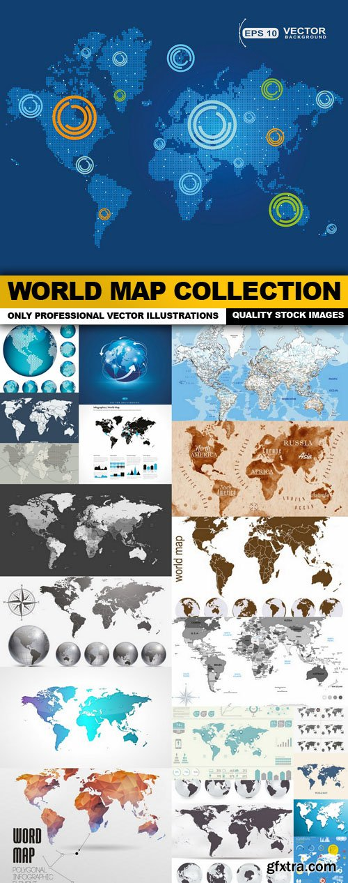 World Map Collection - 20 Vector