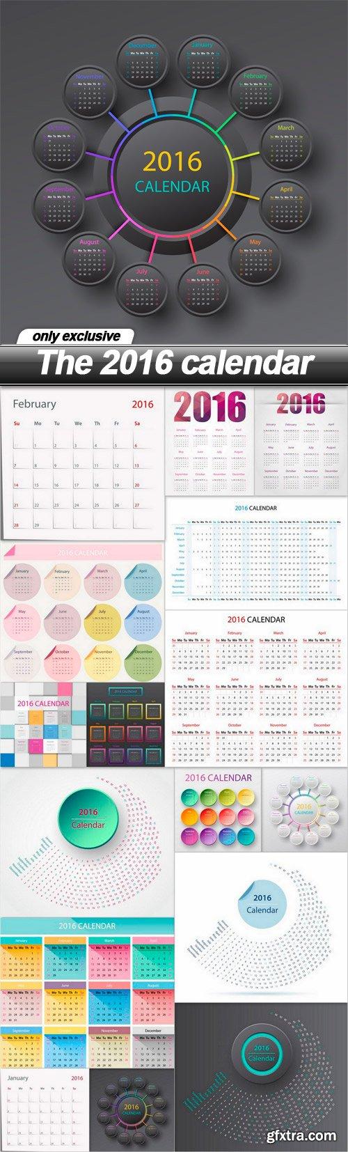 The 2016 calendar - 16 EPS