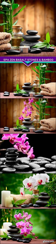 Spa zen basalt stones & bamboo  6x JPEG