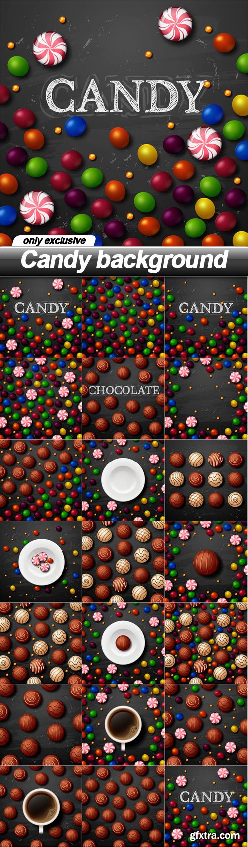 Candy background - 20 EPS