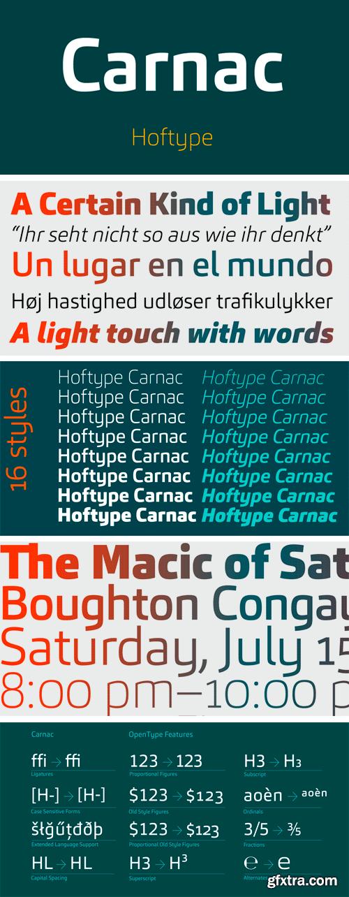 Carnac Font Family