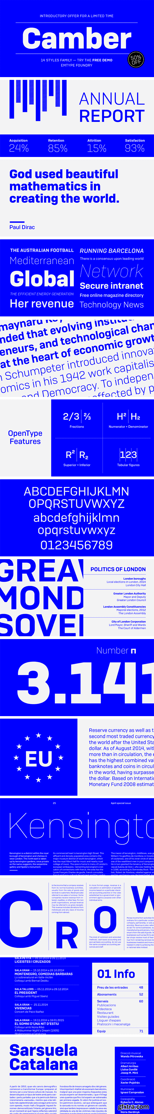 Camber Font Family