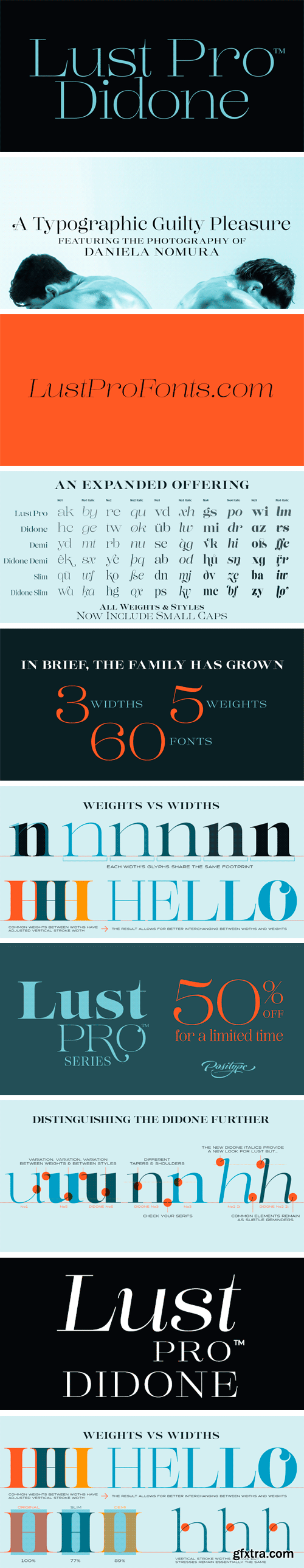 Lust Pro Didone Font Family