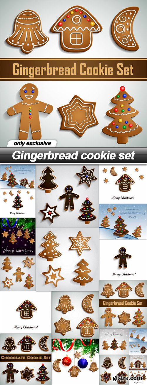 Gingerbread cookie set - 20 EPS