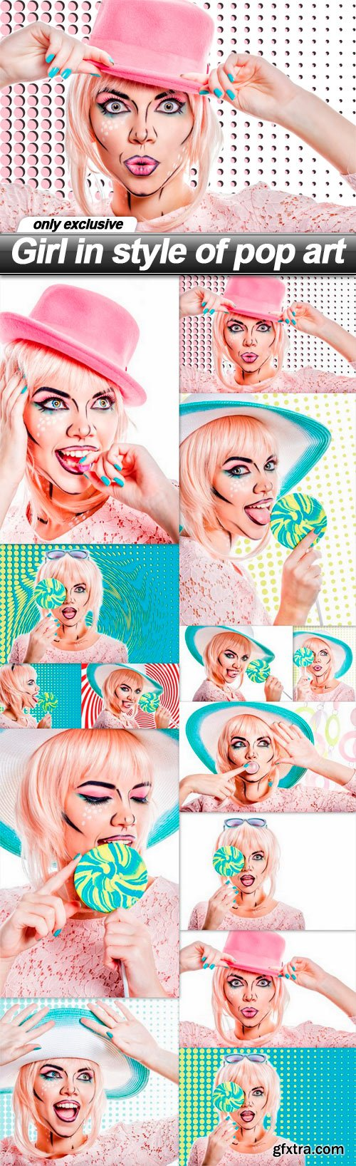 Girl in style of pop art - 14 UHQ JPEG
