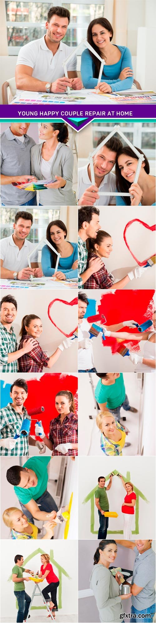 Young happy couple repair at home 12x JPEG