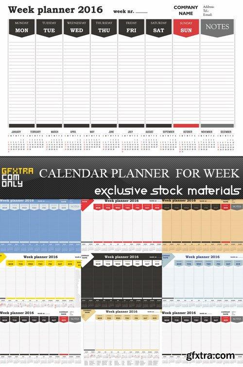 Calendar Planner  for Week - 8 EPS