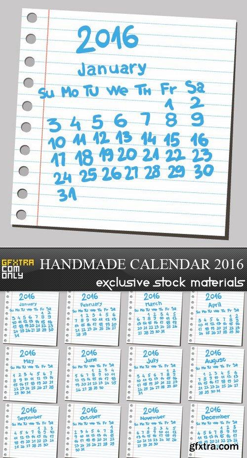 Handmade Calendar 2016 - 12 EPS