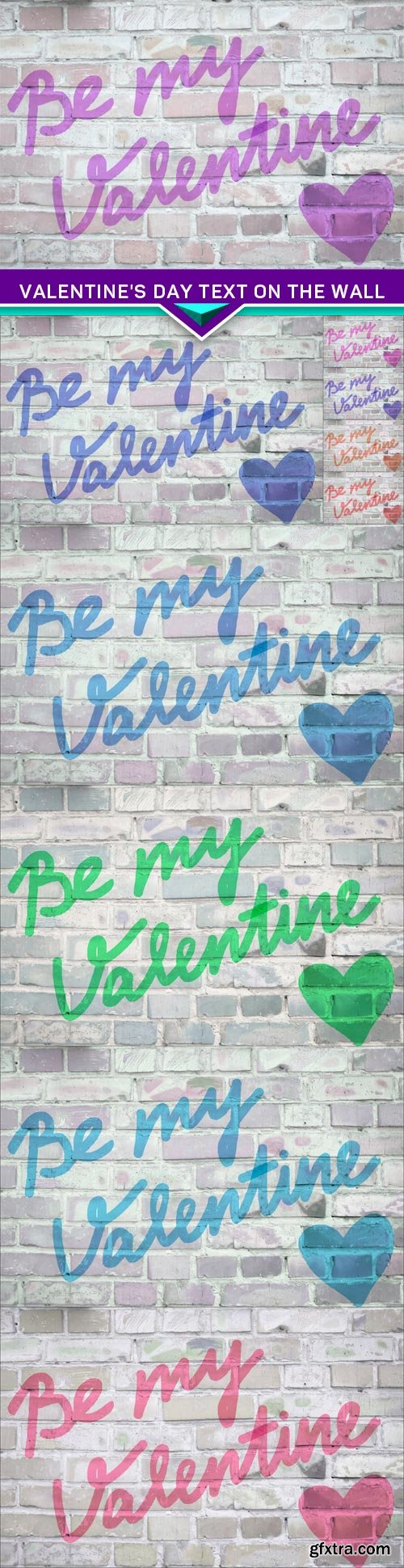 Valentine's day Text on the wall 10x JPEG