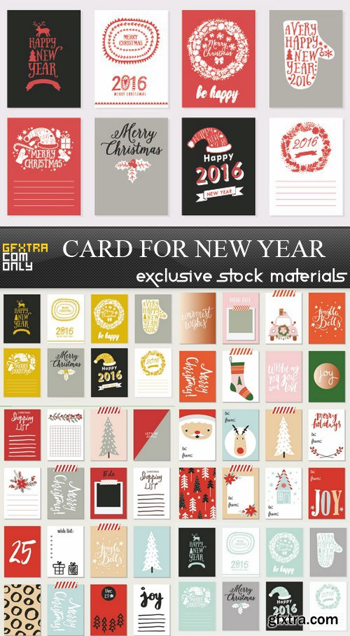 Card for New Year - 7 EPS
