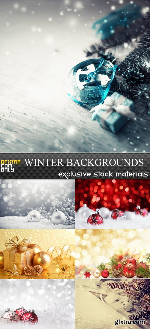 Winter Backgrounds - 7 UHQ JPEG