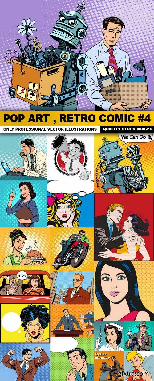 Pop Art , Retro Comic #4 - 20 Vector