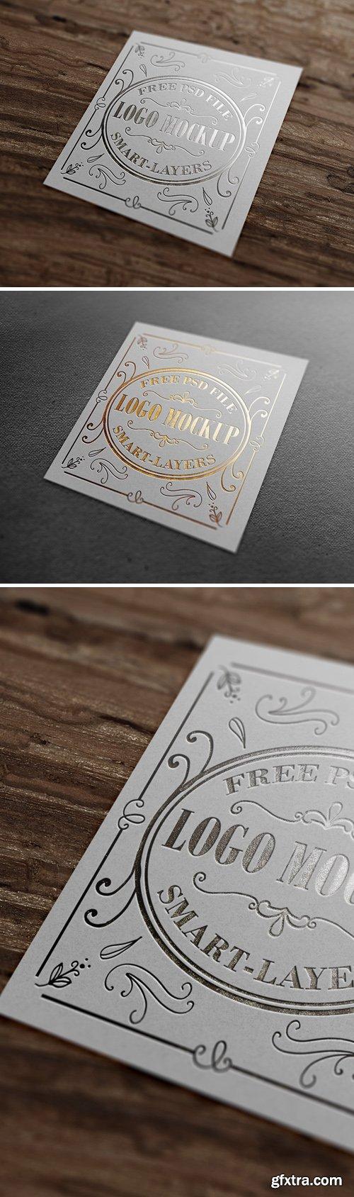 Gold & Silver Stamping Logo Mockup