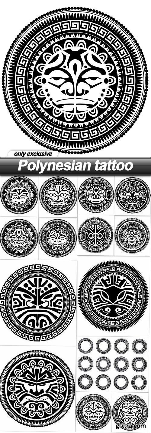 Polynesian tattoo - 14 EPS