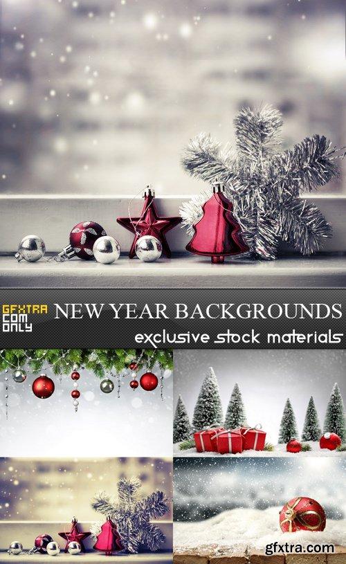 New Year Backgrounds - 5 UHQ JPEG