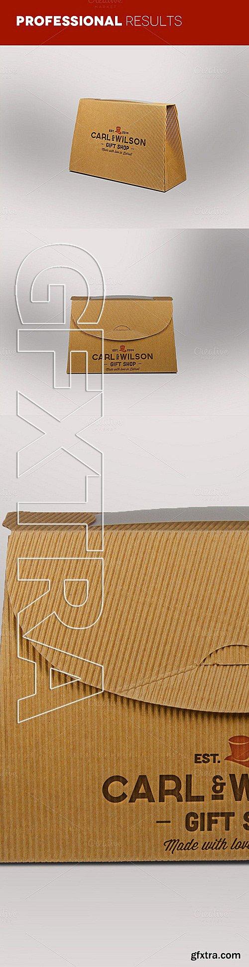 CM - Logo on cardboard box mokcups 302987