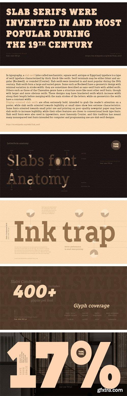 TT Slabs Condensed Font Family