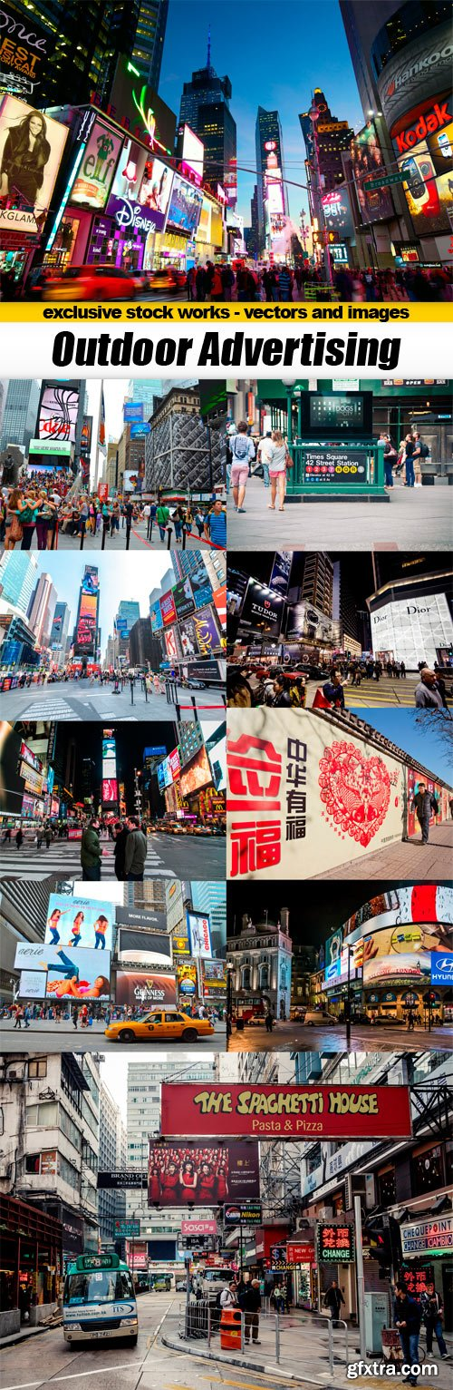 Outdoor Advertising - 10x JPEGs