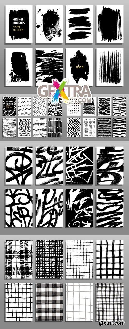Grunge & Scribble Backgrounds Vector