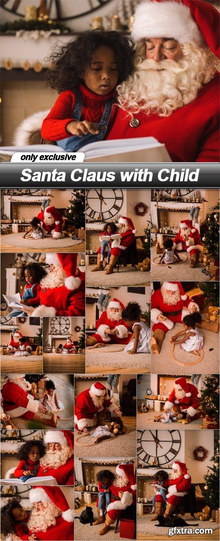 Santa Claus with Child - 15 UHQ JPEG