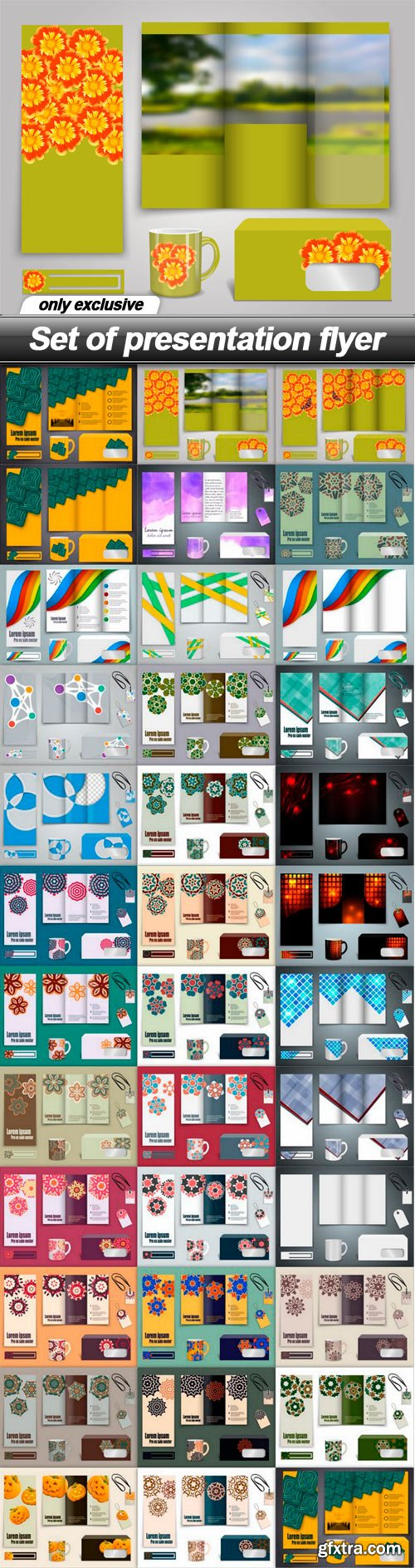 Set of presentation flyer - 35 EPS