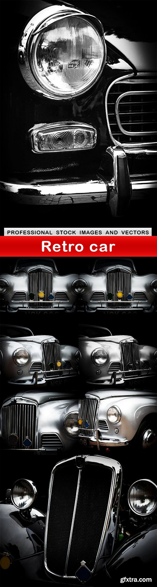 Retro car - 8 UHQ JPEG
