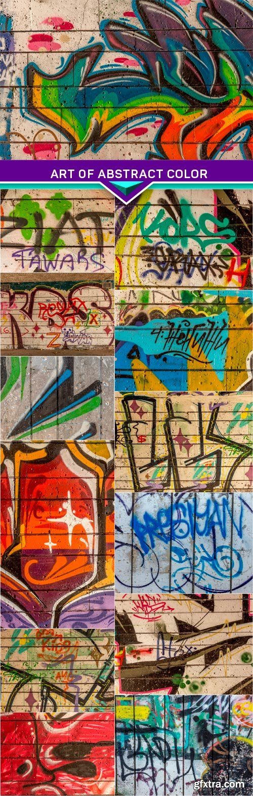 Art of abstract color creative drawing walls of city 13x JPEG